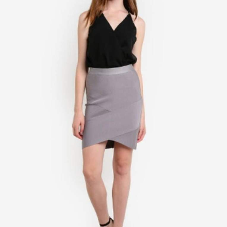 a2c9aecd2 MDS Bandage Bodycon Skirt in Slate, size S